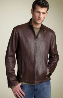 Michael Kors Zip Front Leather Jacket