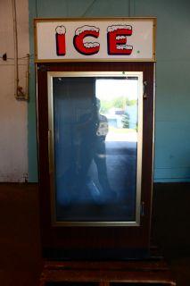 Heavy Duty Commercial Leer Ice Bag Merchandiser Freezer Display Case