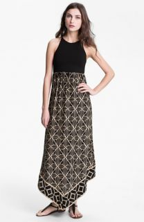 ALICE & TRIXIE Renay Racerback Printed Silk Maxi Dress