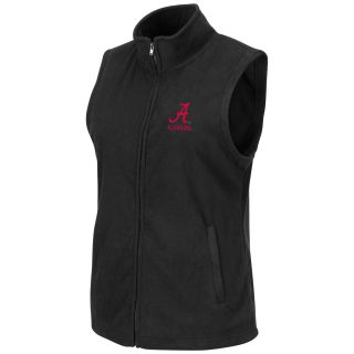 Alabama Crimson Tide Womens Snowflake Polar Fleece Vest Black