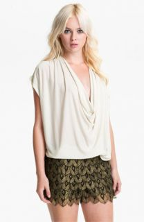 Haute Hippie Draped Silk Top