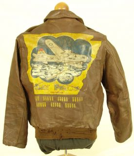 Painted A 2 Flight Jacket B 17 Clay Pigeons 8th Air Force 12 OClock
