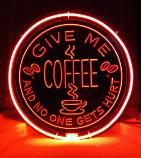 SB212 Give Me Coffee Cafe Coffee Beer Bar Pub Store Diaplay Neon Light