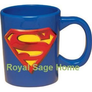 Superman Logo 18oz Sculpted Ceramic Coffee Cup Mug