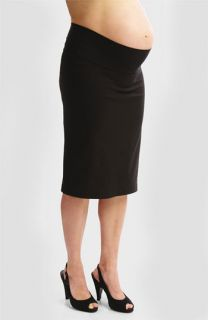 Japanese Weekend Maternity Bengaline Straight Skirt