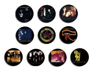 SISTERS OF MERCY floorland vision thing pin pinback button BADGE