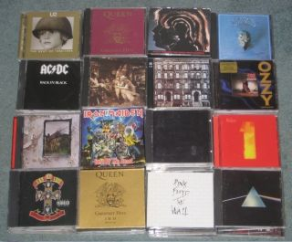 90 CD Lot Collection Iron Maiden Metallica Led Zeppelin The Beatles AC