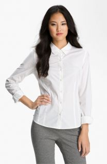Halogen® Stretch Cotton Shirt