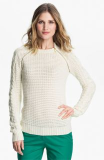 MICHAEL Michael Kors Zip Raglan Sleeve Sweater