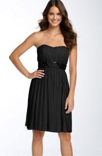 Maggy London Sequin Waist Chiffon Dress