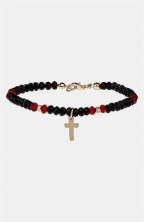 Topshop Beaded Cross Charm Bracelet
