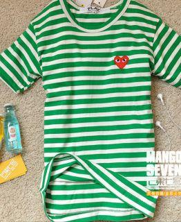 New Comme Des Garcons Cavalli Stripe T Shirt Sz XL