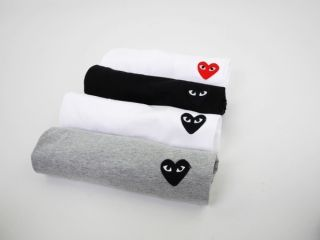 Comme Des Garcons CDG Play Classic T Shirt Black Heart Red Heart