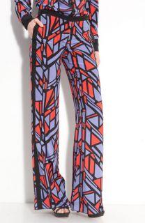 Robert Rodriguez Geo Print Silk Tuxedo Pants