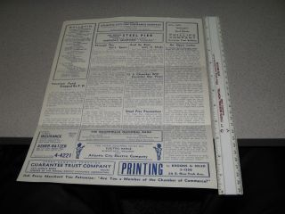 Nut 1937 Atlantic City,NJ Chamber of Commerce 469,boardwalk bulletin