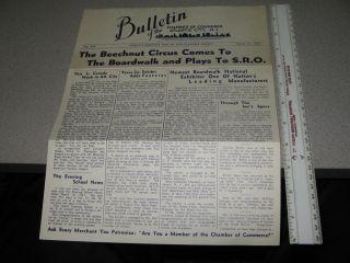 Nut 1937 Atlantic City,NJ Chamber of Commerce 469,boardwalk bulletin