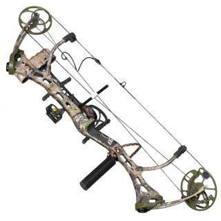 New 2012 Bear Archery Mauler RH Compound Bow Pkg 70 RH 1 2 Dz Arrows