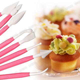 Molde 8 Herramienta de Modelado de Cabeza Tarta Pasta Color Rosa