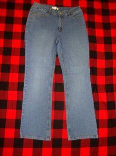 Coldwater Creek Boot Cut Blue Stretch Jeans 6 P A93