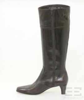 Cole Haan Chocolate Brown Leather Knee High Boots Size 9.5 NEW