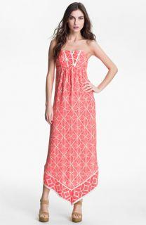 ALICE & TRIXIE Olivia Strapless Printed Silk Maxi Dress