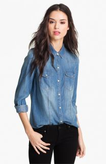 Trouvé Flap Pocket Denim Shirt