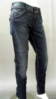 Hudson Collin Misses 31 Stretch Stone Wash Skinny Jeans Blue Denim
