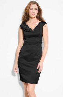 Donna Ricco Satin Sheath Dress