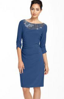 Adrianna Papell Beaded Jersey Sheath Dress