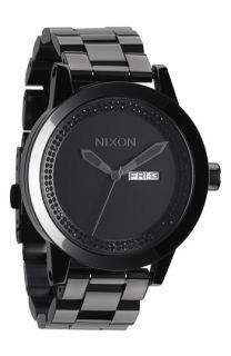 Nixon Round Crystal Dial Bracelet Watch