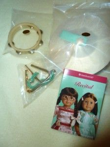 American Girl Molly Recital Dress and Percussion Instruments NEW