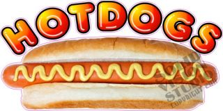 Hot Dog Cart Dogs Fun Concession Trailer Sign Decal
