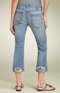 Current/Elliott Crop Bootcut Stretch Jeans