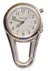 Nurse Nursing Medical Chrome Carabiner Clip Watch 24hr