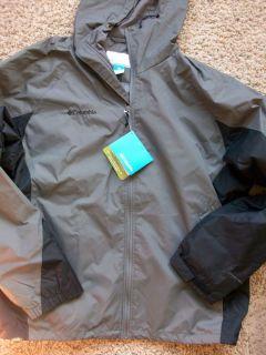 New Columbia Bridge Creek Falls Jacket Mens XL Gray Windbreaker Free