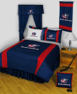Columbus Blue Jackets Twin Full Queen Comforter Sets