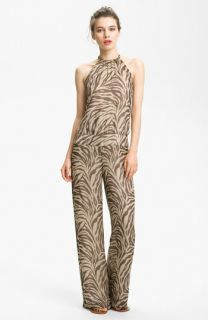 Haute Hippie Print Silk Jumpsuit