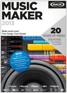 Magix Music Maker 2013 PC Music Software Brand New Sealed Box