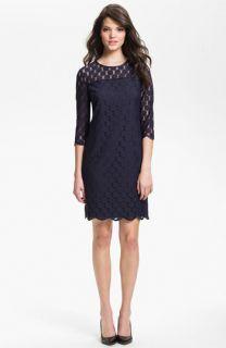 Adrianna Papell Illusion Yoke Lace Sheath Dress