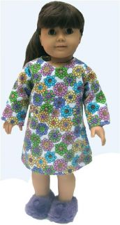 Doll Clothes Sleep Shirt Nightgown Fit American Girl ZF