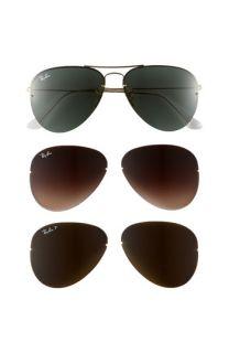 Ray Ban Light Ray   Interchangeable Lens Box Set Aviator Sunglasses