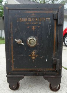 Vintage Floor Safe working combination J. Baum Safe & Lock Co.