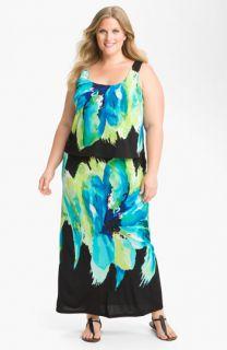 Robbie Bee Print Maxi Dress (Plus)