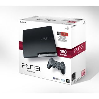 PlaySaion 3 160 GB Slim Model Game Console Sysem PS3 CECH 3001A