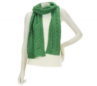 Aran Craft Merino Wool Cable Knit Scarf   A210287