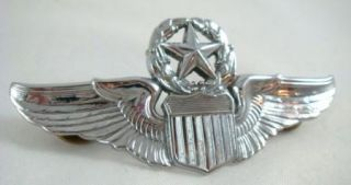 US Air Force Command Pilot Silver Wings Pin Vietnam Era Major General