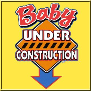 Baby Under Construction Pregnant Funny Pregnancy Womens Shirts s M L