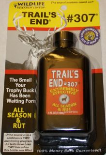 Wildlife Research TRAILS END 4oz #307 DEER LURE/SCENT Doe Urine Buck