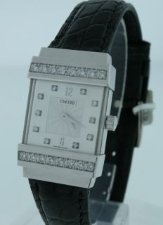 diamond watch concord crystale new 18k white gold diamond watch