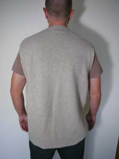 Vtg Lambswool Wool Grandpa Knit Sweater Vest XL